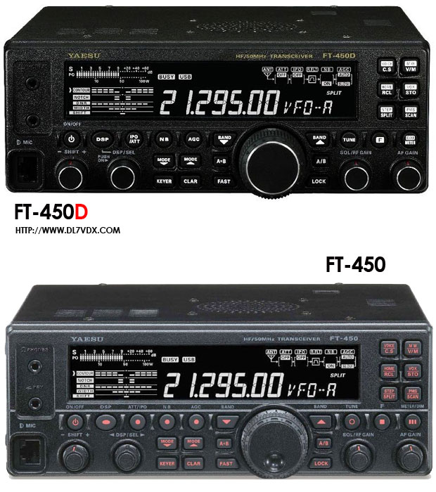 FT-450 <> FT-450D  old & new