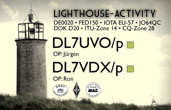 qsl-karte-dl7vdx-dl7uvo-lighthouse