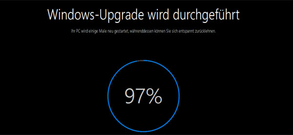 Windows-10 Upgrade Installation mit Problemen